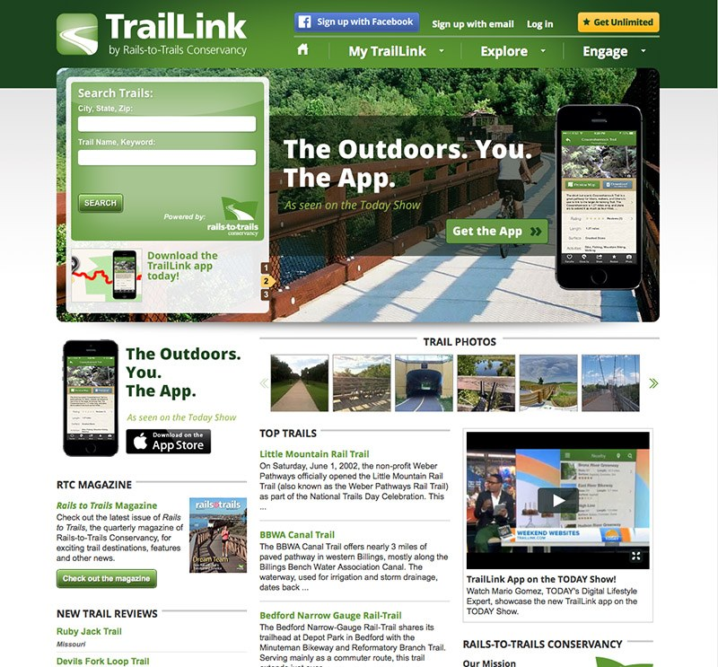 TrailLink Website